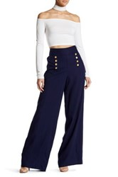 1.State Flared Leg Sailor Pant Blue