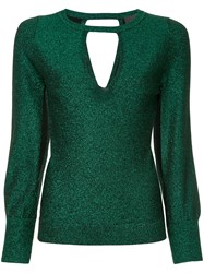 Ginger And Smart Allude Metallic Knit Top