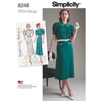 Simplicity Women's 1930S Dresses Sewing Pattern 8248