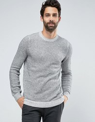 New Look Crew Neck Jumper In Grey Marl Grey