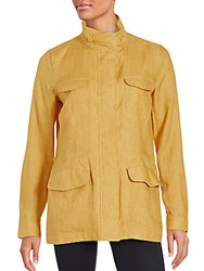 Loro Piana Solid Long Sleeve Jacket Honey