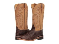 Old West Boots Doc Square Toe Chocolate Cowboy Brown