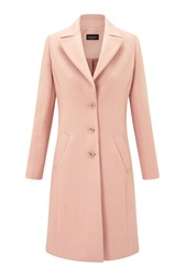 James Lakeland Long Line Single Breasted Coat Pale Pink