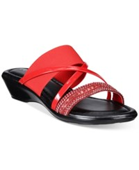 Easy Street Shoes Tuscany Velino Sandals Women's Red Patent