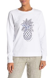 Tommy Bahama Pineapple Crew Top White