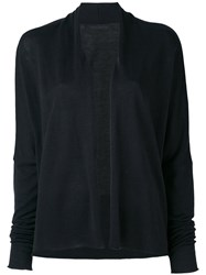 Daniel Andresen Thayer Cardigan Women Silk Linen Flax M Black