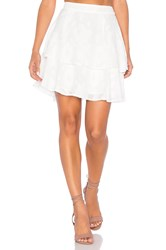 Lucy Paris Rose Burnout Skirt White