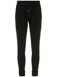 Andrea Bogosian Side Stripes Sweatpants Black