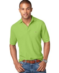 Tommy Hilfiger Men's Classic Fit Ivy Polo Bright Lime Green