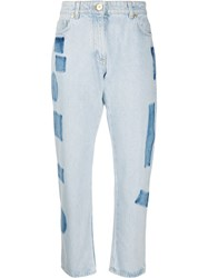 Versace High Rise Cropped Straight Fit Jeans 60