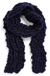 Women's Free People Chunky Knit Scarf Blue Navy