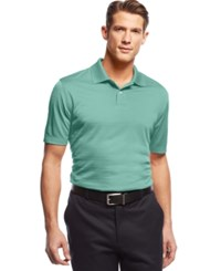John Ashford Short Sleeve Solid Textured Performance Polo Mint Shake