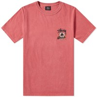 Stussy Surf Skull Pigment Dyed Tee Pink