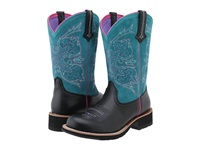Ariat Fatbaby Cowgirl Tall Black Deertan Turquoise Women's Boots