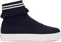 Opening Ceremony Navy Bobby High Top Slip On Sneakers
