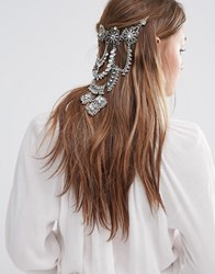 Love Rocks Pool Party Hair Drape Silver Gold