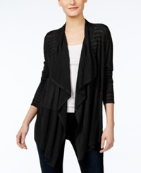 Inc International Concepts Pointelle Cardigan Only At Macy's Deep Black
