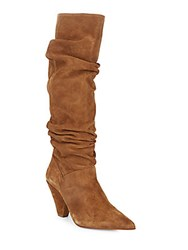 Saks Fifth Avenue Tall Slouch Boots Cognac