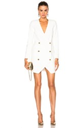 Michelle Mason Blazer Dress In White