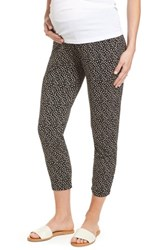 Isabella Oliver Danni Maternity Tapered Trousers Polka Print