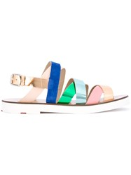 Paul Smith Ps By Strappy Sandals Women Leather Rubber 36