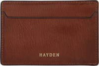Hayden Men's Slim Card Case Brown