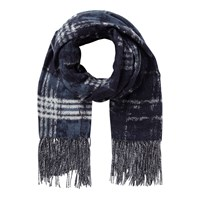 East Abstract Check Scarf Blue