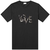 Saint Laurent Love Print Tee Black