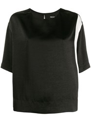 Dkny Monochrome T Shirt Black