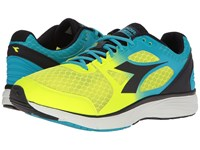 Diadora Run 505 Fluo Cyan Fluo Yellow Black Men's Shoes