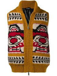 Dsquared2 Pattern Knit Gilet Yellow