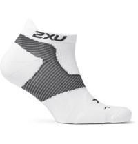 2Xu Race Vectr Stretch Knit No Show Compression Socks White
