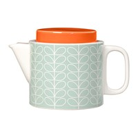 Orla Kiely Linear Stem Teapot Duck Egg