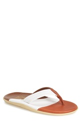 Island Slipper Leather Thong Sandal Men Curry