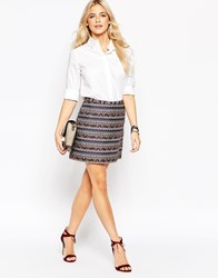 Jt Oasis Jacquard Mini Skirt Multi
