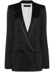 Haider Ackermann Double Breasted Blazer Black