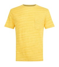 Officine Generale Chest Pocket T Shirt Male Yellow