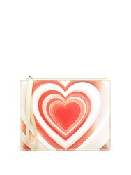 Christopher Kane Lenticular Heart Leather Pouch