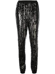 Michael Kors Sequinned Tapered Trousers Black
