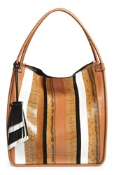 Proenza Schouler 'Medium Exotic Stripe Mix' Genuine Snakeskin And Leather Tote