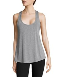 Design Lab Lord And Taylor Heathered Tank Top Heather Grey