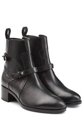 Pierre Hardy Leather Ankle Boots Black