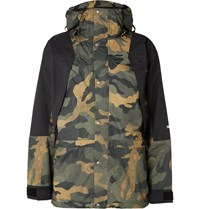 The North Face 1994 Retro Mountain Light Camouflage Print Dryvent Hooded Jacket Green