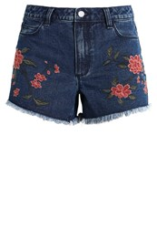 Vila Vicaria Denim Shorts Dark Blue Denim Dark Blue Denim