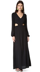 Wildfox Couture Cut It Out Maxi Dress Clean Black
