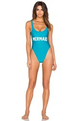 Private Party Mermaid One Piece Swimsuit Blue