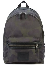 Coach Wild Beast Print Academy Backpack Black