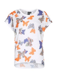 Izabel London Oversized Butterfly Print Top Orange