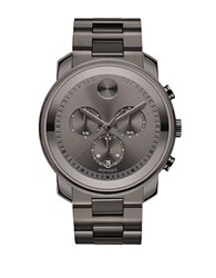 Movado Bold Gunmetal Stainless Steel Bracelet Watch Gun Metal