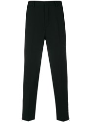 Mcq By Alexander Mcqueen Cropped Suit Trousers Polyester Wool Spandex Elastane Viscose Black